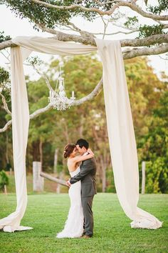 this is a great idea!!!! So simple but so elegant!! draped over tree like this :)