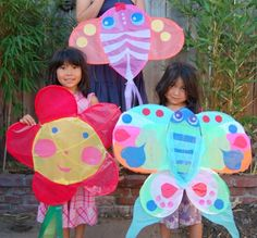 home made kites - a project for the older kids from Red Ted Art