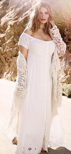 fa67e02034d Plus Size Off The Shoulder Dress Boho Dress Plus Size