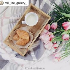 Mmmm! These are a few of our favorite things.  Coffee French flakey croissants and pink tulips.  A perfect breakfast!  Via @still_life_gallery_   Presents  . Artist: @carmenrprp . Congratulations! Thank you for sharing with us! . Be sure to visit our featured artist's gallery & show them some IG love  __________________________________________ .   Follow us @still_life_gallery_   To be featured please tag: #still_life_gallery or #stilllifegallery .   Selected by:  @kittykisses…