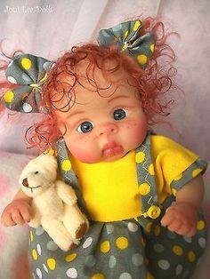 ❤OOAK  BABY GIRL MAGGIE W/ FRECKLES!  BY JONI LEA * DOLLY-STREET❤     eBay