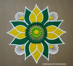 Easy Rangoli Designs Videos, Simple Rangoli Border Designs, Indian Rangoli Designs, Rangoli Designs Latest, Rangoli Designs Flower, Free Hand Rangoli Design, Small Rangoli Design, Rangoli Designs With Dots, Beautiful Rangoli Designs