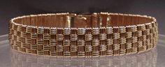 Textile Weave Bracelet -Checker Board Design