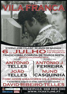 Pátio de Quadrilhas: Cartaz da Corrida em Vila Franca de Xira (Colete E...