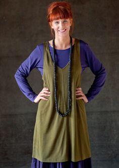 Tunic of silk jersey