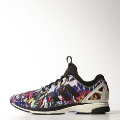 be6ff1d45a60 These men s shoes continue the ZX legacy in vibrant photo-print nylon with  shiny and a ...