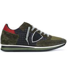 PHILIPPE MODEL – Sneakers basse Tropez nere e verde militare da uomo 1
