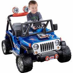 Fisher-Price Power Wheels Hot Wheels Jeep Wrangler 12-Volt Battery-Powered…