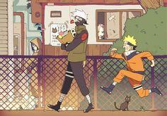 Equipo 7, Kakashi Naruto Sakura y Sasuke