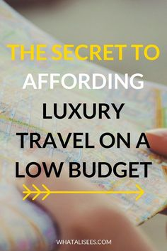 What is the one thing that holds you back from booking ALL.OF.THE.TRIPS? Want to know the secret to affording luxury travel on a low budget? Find out how.