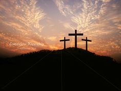 Easter Morning on Calvary - amazing sky - communicates hope and a new day dawning!
