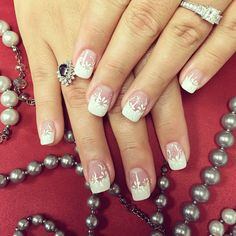 Pin for Later: 31 Real Girls Show Off Their Gorgeous Bridal Manicures White Blossoms