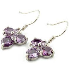 Fashion New Korean Hot Sale Copper Silver Zircon Earrings[US$3.93],shop cheap fashion earring at www.favorwe.com