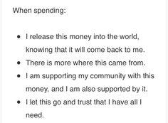When spending ...