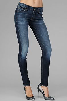7 SEVEN FOR ALL MANKIND LONG LEGS BOOTCUT NEW YORK DARK WOMENS ...
