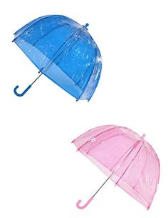 totes ISOTONER Kids Clear Bubble Umbrella (Pack of 2), Pink/Blue >>> Find out more about the great product at the image link.