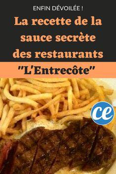 La recette de la sauce des restaurants l'Entrecôte dévoilée ! Sauce Recipes, Beef Recipes, Healthy Recipes, Sauce Entrecote, Sauce Restaurant, Poutine, Vinaigrette, Pesto, Barbecue