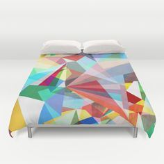 Colorflash 5 duvet cover by Mareike Böhmer Graphics Picnic Blanket, Outdoor Blanket, Pillow Shams, Pillows, Duvet Cover Design, Up House, Cat Shirts, Interior Design Inspiration, Pattern Design