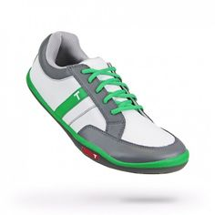 Mens Phx White/Kelly/Charcoal Golf Shoes by True Linkwear.  Buy it @ ReadyGolf.com
