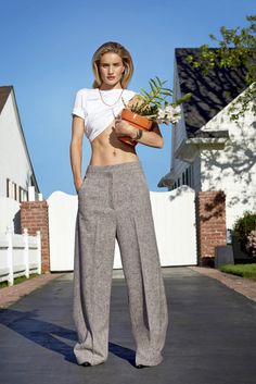 Publication: V Magazine #89 Summer 2014 Model: Rosie Huntington Whiteley Photographer: Collier Schorr Fashion Editor: Mel Ottenberg Hair: Holli Smith Make-up: Yumi Mori