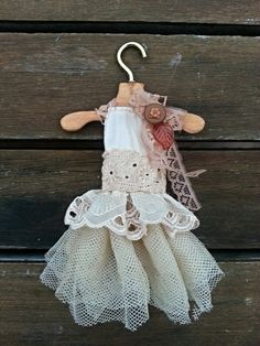Flower Fantasia  Blythe Dress  Natural Flower by OrchidsDesigns, $56.00