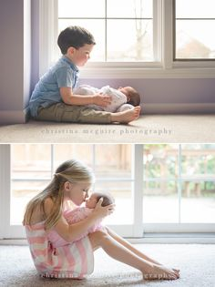 Cute idea for a sibling photo