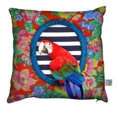 superbe coussin perroquet ara coco : Accessoires de maison par fifi-canari-la-boutique