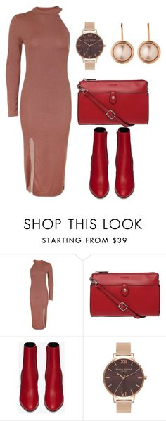"""""""Outfits"""" by en-li ❤ liked on Polyvore featuring Topshop, Lodis, Yves Saint Laurent, Olivia Burton and Dyrberg/Kern"""
