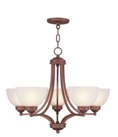 Livex Lighting Somerset Vintage Bronze Chandelier 4215-70