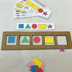 Tipss und Vorlagen: Paper with crafts ideas at home Pre K Activities, Preschool Learning Activities, Preschool Classroom, Infant Activities, Preschool Activities, Kids Learning, Learning Shapes, Early Learning, Kids Education