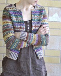 Amazing fair isle knit cardigan