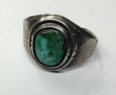 Vintage Gary Reeves Navajo Bracelet Turquoise Sterling Silver Cuff Bracelet
