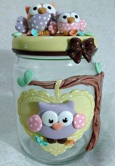 Translucent Porcelain Royalton China Co Info: 1231333930 Diy Clay, Clay Crafts, Diy And Crafts, Polymer Clay Disney, Clay Fairy House, Clay Jar, Kitchen Ornaments, Clay Fairies, Unicorn Crafts