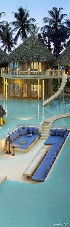 Soneva Fushi Resort, The Maldives.  The Best Hotel Bathtub Views @  http://blog.qualitybath.com/tubs/best-hotel-bathtub-views/