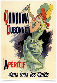 Poster The Belle Epoque Quinquina impresso com tecnologia HighHD de alta definição em papel semi-glossy especial com gramatura 250g no tamanho A3 (42x29cm) com cores vibrantes.