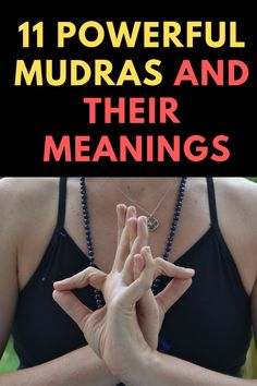 """A mudra is a hand position which balances energy in the mind and body. The Sanskrit word """"mudra"""" is translated as a mark, seal, or gesture. Here is a list if 11 powerful mudras and their meanings. Qi Gong, Finger Yoga, Hata Yoga, Gyan Mudra, Hand Mudras, Les Chakras, Buddhist Practices, Yoga Mantras, Sanskrit Words"""