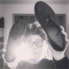 Enjoy in #wannamariafiori #shoes ❤️ #goodmorning #unisex #enjoy #funny #potd #picoftheday  #ootd  #outfitoftheday  #blackandwhite  #black  #white  #mfw  #pfw  #fashion #showroom #morning #flat #flatshoes  #glasses #smile #love ❤️ www.facebook.com/wannamariafiori ❤️