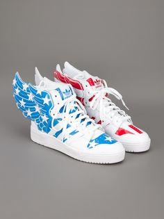 ADIDAS ORIGINALS BY JEREMY SCOTT JS Wings And Hi-Top Sneakers •ƒƒ•