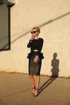 Skirt: Zara Shoes: Tory Burch Top: Zara Belt: ASOS. Sunglasses: Karen Walker 'Super Duper'. Nails: Essie 'Hip-Anema'. Clutch: Anya Hindmarch. Jewelry: Margaret Elizabeth, Stella and Dot, Hermes, David Yurman, Michele Watch.