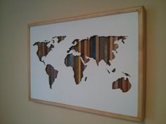 World Map 24 by 17 by Derrierelesbois on Etsy www.behindthewoods.ca