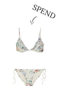 Spend VS Save: The Best Swimwear Trends This Spring Summer 2017 Best Swimwear, String Bikinis, Spring Summer, Printed, Top, Style, Fashion, G Strings, Moda