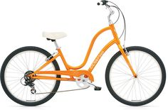 Electra Townie 7D Step-Through Women's Bike – 2012 With this color ORANGE PEARL even the sun would love to ride by your side when riding along the beach line Price: $449.00