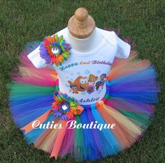 Bubble Guppies  Birthday Outfit Set With by CutiesBoutique on Etsy, $48.99