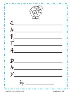 Earth Day Acrostic Poem Freebie