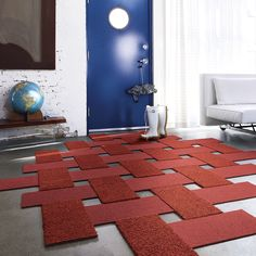 Basket weave...so much flexibility and creativity with carpet tiles...how fun!