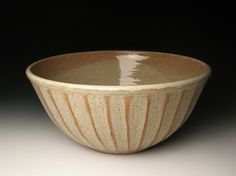 Large fluted bowl by brentsmithpottery on Etsy, $78.00