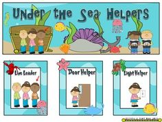 So cute for an ocean theme ... Under the Sea Classroom Helper Jobs (Ocean theme)