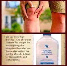 Do you suffer with joint issues? Fed up of taking medication and having un needed side effects? Our Forever Freedom works as a natural anti-inflammatory https://www.foreverliving.com/retail/entry/Shop.do?store=GBR&language=en&distribID=440400047095