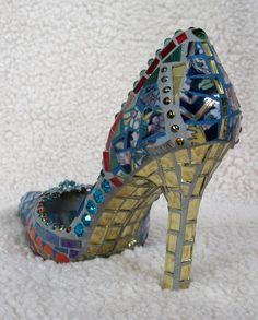 Oriental Bliss Mosaic Shoe by MosaicRenaissance on Etsy  I would like these by the door to remind everyone to remove their shoes