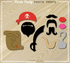 Pirate Party  Pirate Photo Props  Party Printables by GraceandGuy, $4.00